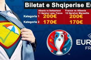 Biletat e Shqiperise Euro 2016 Kategoria 1 200€ Kategoria 2 170€